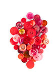 Red sewing buttons Royalty Free Stock Photos