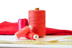 Red sewing thread Royalty Free Stock Photography