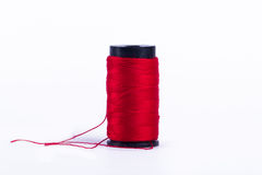 Red Sewing Yarn Royalty Free Stock Photography