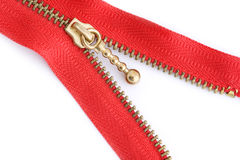 Red sewing zipper Stock Image
