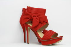 Red sexy party shoes. Stock Images
