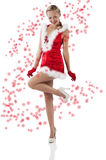 Red and santa claus girl Royalty Free Stock Photography