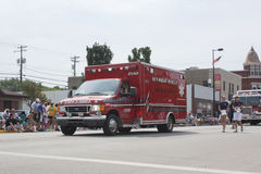 Red Seymour Rescue Ambulance Royalty Free Stock Image