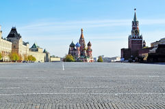 Red Sguare. Red Square,the place of execution Spaska tower sunny clear day Royalty Free Stock Photography