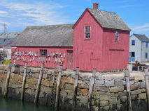 Red Shack. Red fishing shack on Martha's Vineyard, Massachussets Royalty Free Stock Photos