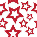 Red shadowed stars pattern. Abstract seamless texture, vector art illustration, image contains transparency Stock Photography