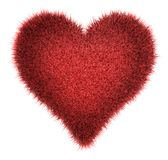 Red Shaggy Heart Royalty Free Stock Photo