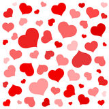 Red shapes hearts Valentine holiday love Stock Photos