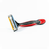 Red shaving razor isolated Stock Photography