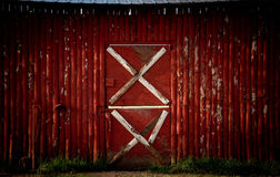 Red shed with white accents Royalty Free Stock Photo