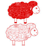 Red sheep Stock Images