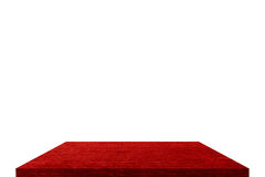Red shelf on isolate Stock Photography
