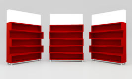 Red shelves Royalty Free Stock Image