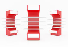 Red Shelves Royalty Free Stock Photo