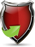 Red shield Royalty Free Stock Images