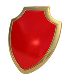 Red shield royalty free stock photo