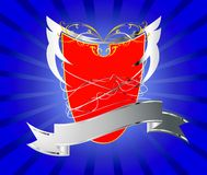 Red shield abstract background Royalty Free Stock Image