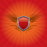 Red Shield Background Stock Image