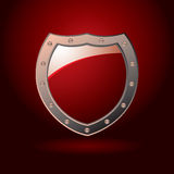 Red shield blank Royalty Free Stock Photos