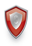 Red shield icon Royalty Free Stock Images