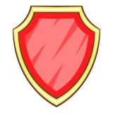 Red shield icon, cartoon style. Red shield icon. Cartoon illustration of red shield vector icon for web Royalty Free Stock Image
