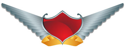 Red Shield Wings Royalty Free Stock Photo