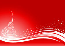 Red Shine Christmas Background Royalty Free Stock Images