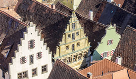 Red shingle roofs in Rothenburg ob der Tauber Stock Images