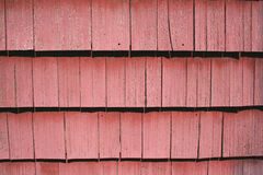 Red shingle siding Stock Photography