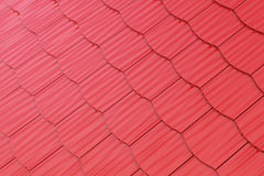 Red shingles background Stock Photo