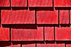 Red Shingles Background Stock Photography