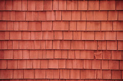 Red shingles on a barn Stock Photos