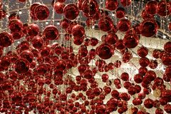 Red shining ball decoration stock image