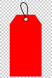 Red Shining Blank Tag, At Transparent Effect Background Royalty Free Stock Photography