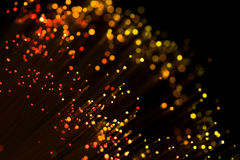 Red shining fiber optic Stock Images
