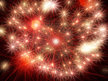 Red shining fireworks stars.Abstract holiday background. Royalty Free Stock Images