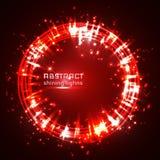 Red shining glitter vector star dust and line frame vector illustration