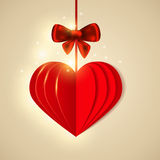 Red  shining paper heart Stock Image