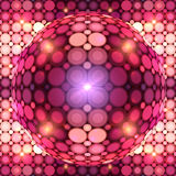 Red shining vector disco ball Royalty Free Stock Images