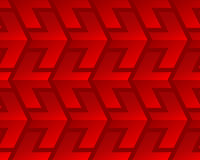 Red shiny arrows seamless pattern Stock Photography