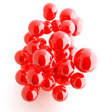 Red shiny balls Stock Images