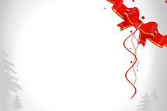 Red shiny beautiful ribbon right upper corner, abstrack background Royalty Free Stock Image