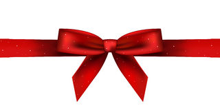 Red shiny bow Stock Photo