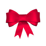 Red shiny bow Royalty Free Stock Photos