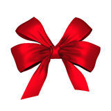 Red shiny bow Royalty Free Stock Image
