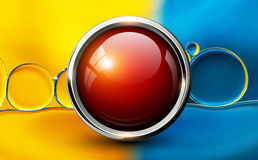 Red shiny button background Royalty Free Stock Image