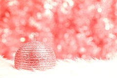 Red shiny candle Royalty Free Stock Photo