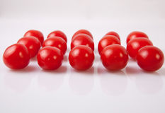 Red shiny cherry tomatoes Royalty Free Stock Image
