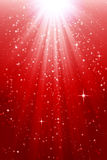 Red shiny christmas background. Red sparkling christmas background with stars vector illustration