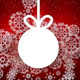 Red shiny christmas background with bauble. Stock Photography